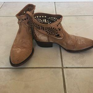 Matisse Tan Cowboy Booties